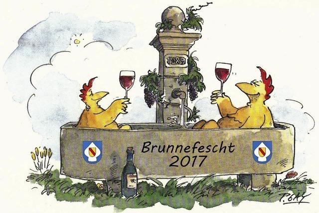 Am Hüsinger Ratsbrunnen wird feste gefeiert