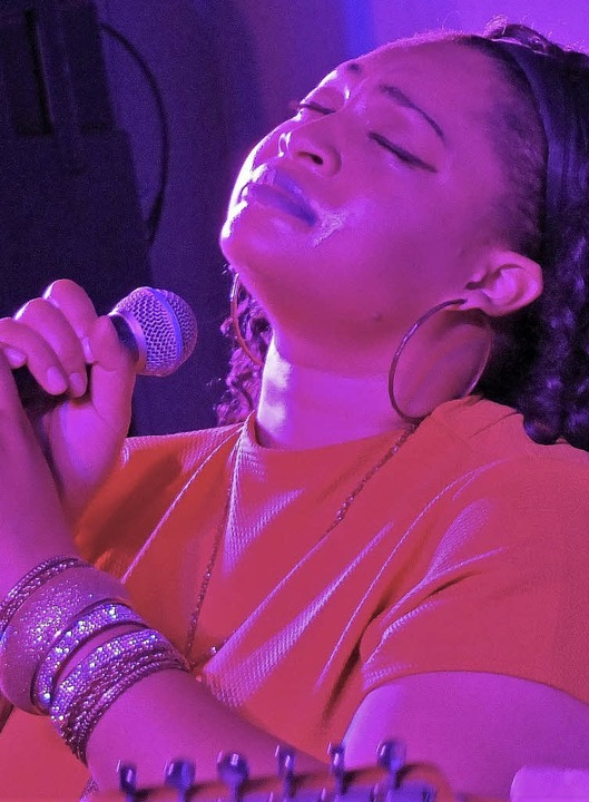 Kraftvolle Stimme: Bluessängerin JJ Thames     Foto: David-Wenk