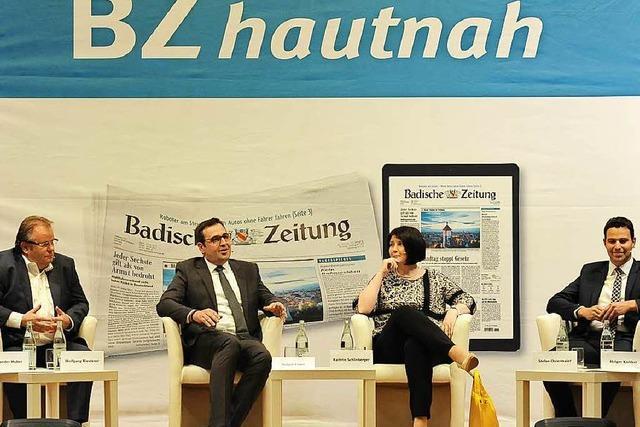 Bürgermeisterkandidaten zeigen bei BZ-Podiumsdiskussion ganz neue Seiten an sich