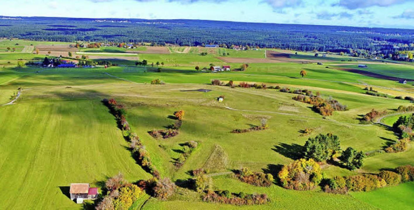 Blick von oben auf die Herbstlandschaft.     Foto: Philippe Thines