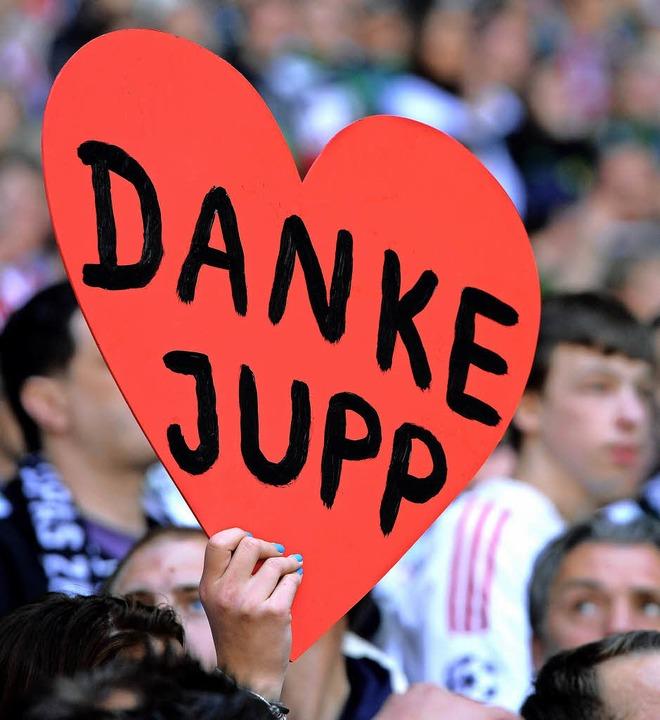 Jupp Heynckes war und ist bei den Fans populär.  | Foto: afp