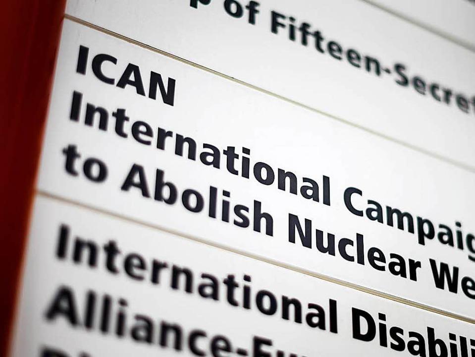 Internationale Kampagne zur Abschaffung von Atomwaffen ausgezeichnet    Foto: AFP