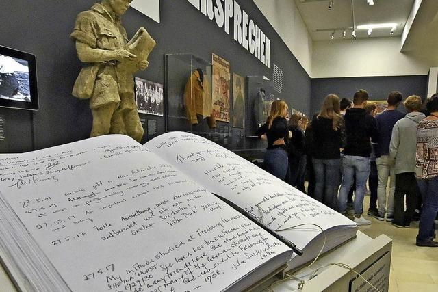 Gästebuch der Ausstellung