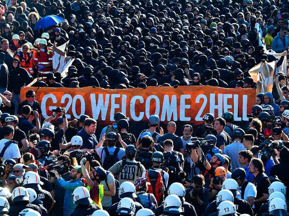 Protest in Hamburg gegen den G20-Gipfel. (Archivbild)  | Foto: dpa