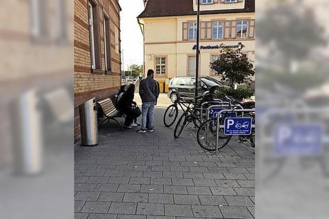 An den Radparkplätzen wird's eng