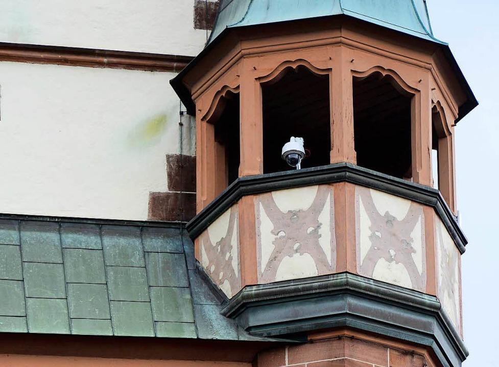 Überwachungskamera am Martinstor in der Kaiser-Joseph-Straße  | Foto: Ingo Schneider