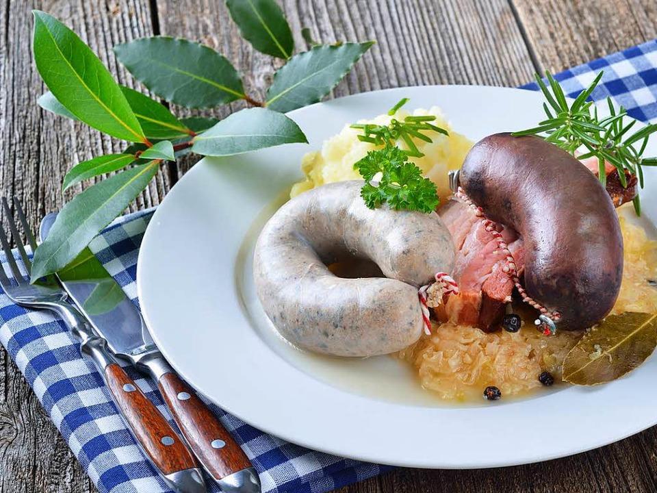 Kesselfleisch, Blut- und Leberwurst gehören zu einer klassischen Metzgete  | Foto: kab-vision/fotolia.com