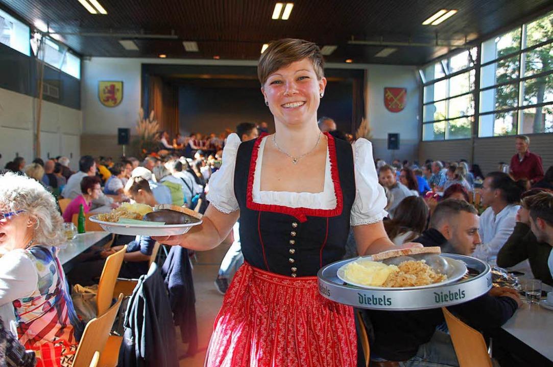 Bei Festen – hier ein Bild vom M...ch Viele die Metzgete gerne schmecken.  | Foto: Petra Wunderle