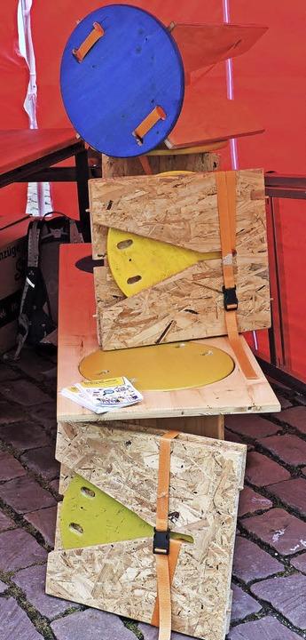 Klapphocker entstanden in einem Projekt mit geflüchteten Menschen bei der Wabe.  | Foto: Katharina Timm