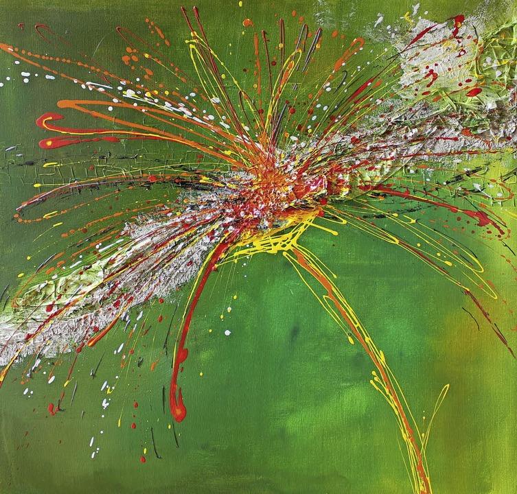 EIn Feuerwerk der Farben präsentierte Eva Kneipp    Foto: Gert Brichta