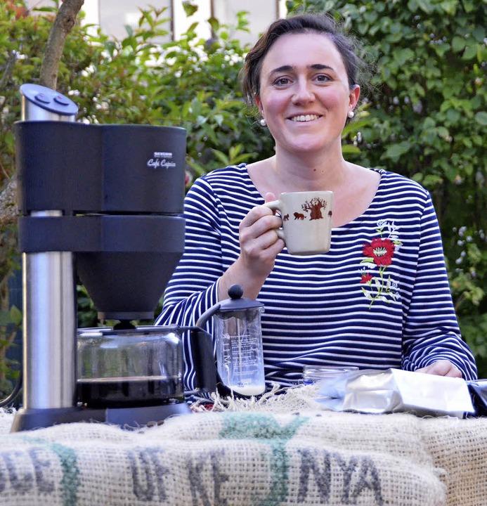 Luisa Marijani Begründerin von Uhuru Coffee in Ebringen  | Foto: Sebastian Krüger
