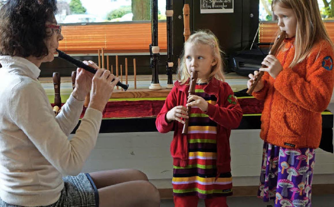 Wie schön Blockflöte klingen kann, zei...formationsnachmittag der Musikschule.   | Foto: Roswitha Frey