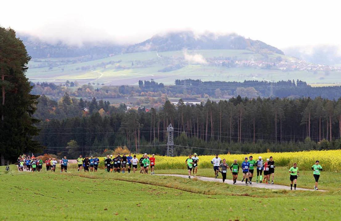 Von den 600 gemeldeten Marathonläufern...gen starteten 525, ins Ziel kamen 517.  | Foto: Dieter Reinhardt