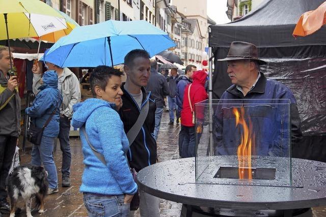 Herbstmarkt in Rheinfelden trotz Regen ein Erfolg