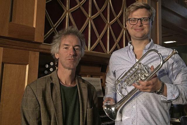 Frieder Reich (Trompete) und Jörn Bartels (Orgel) in Emmendingen
