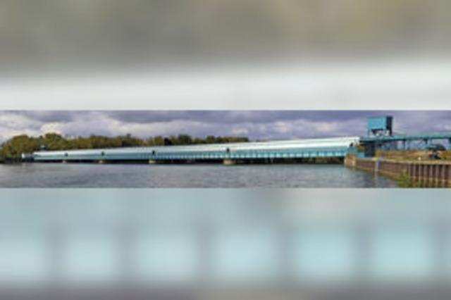 Stauwehr soll Brücke für Radfahrer und Fußgänger werden