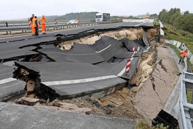 Autobahn abgebrochen