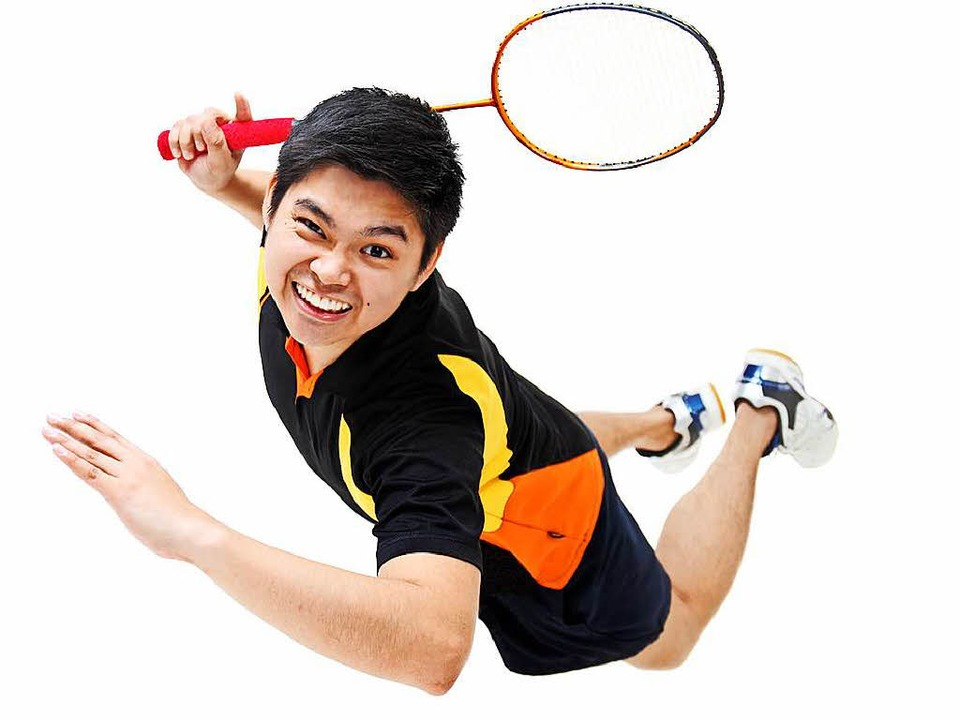Nennt es bloß nicht Federball! Das Spi...en echten Federbällen heißt Badminton.