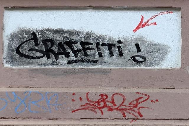 Freiburg will im Jahr 250000 Euro ausgeben, um illegale Graffiti zu beseitigen