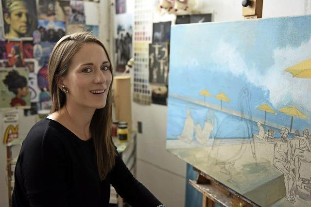 Malerin Nina Capek kann auf mehrere Ausstellungen zurückblicken