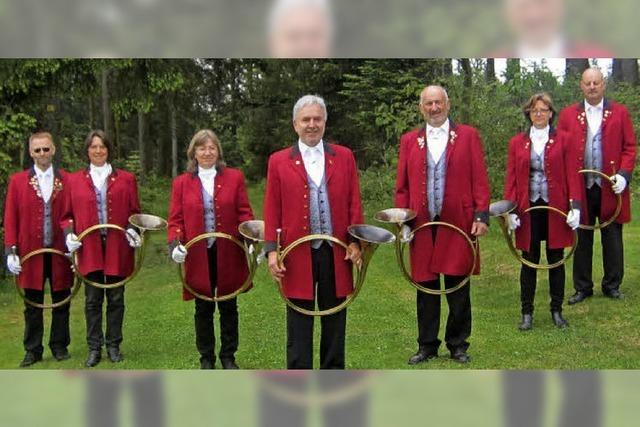 Mit Jagdhornbläsergruppen in St. Märgen und Hinterzarten