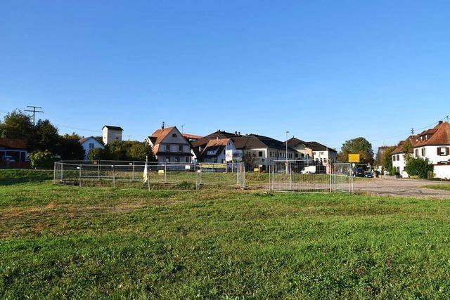 Grundstück wird für Bebauung vorbereitet