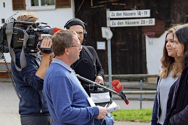 TV-Team in Kaltenbach