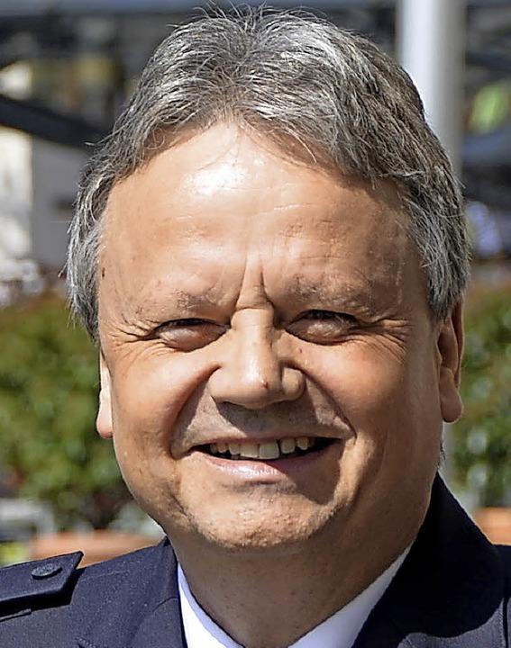 Peter Dieterle, Chef des <olitzeirevie...litzeireviers>Polizeireviers Offenburg  | Foto:  hsl