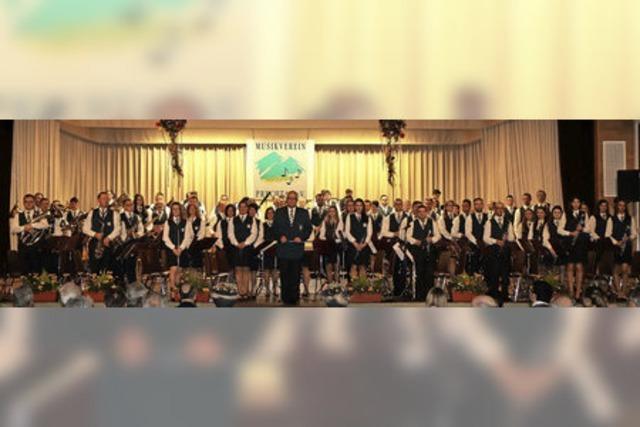MV Prechtal und die Musikkapelle Hofstetten in Eltzach-Prechtal