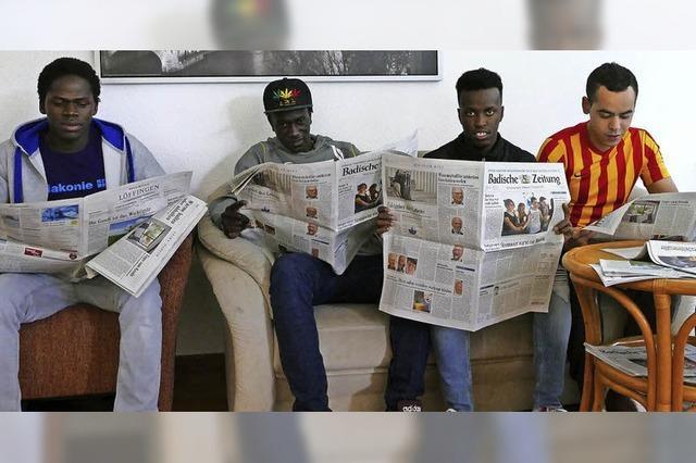 Junge Flüchtlinge sind in Neustadt auf der Suche nach Wohnraum