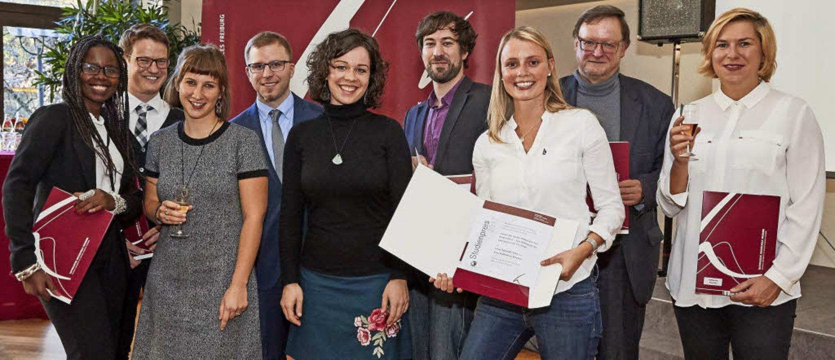 Preisträgerinnen und Preisträger der K...r Jürgen Winkler und Katharina Reuster  | Foto: Florian Bilger Fotodesign/KH Freiburg
