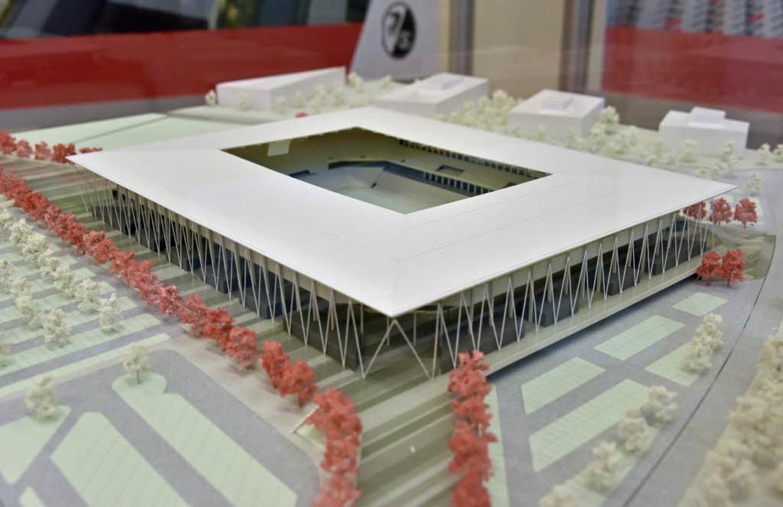 Siegentwurf des neuen SC-Stadions  | Foto: Michael Bamberger