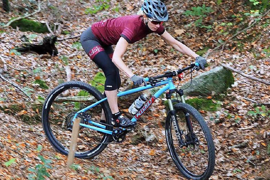 BZ-Redakteurin Susanne Gilg, die selbst viel Zeit auf dem Mountainbike verbringt, hat sich der Herausforderung gestellt und die Strecke getestet. (Foto: Susanne Gilg/Privat)