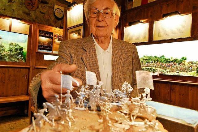 Ex-Zinnfigurenklause-Leiter Andreas Müller feiert seinen 100. Geburtstag