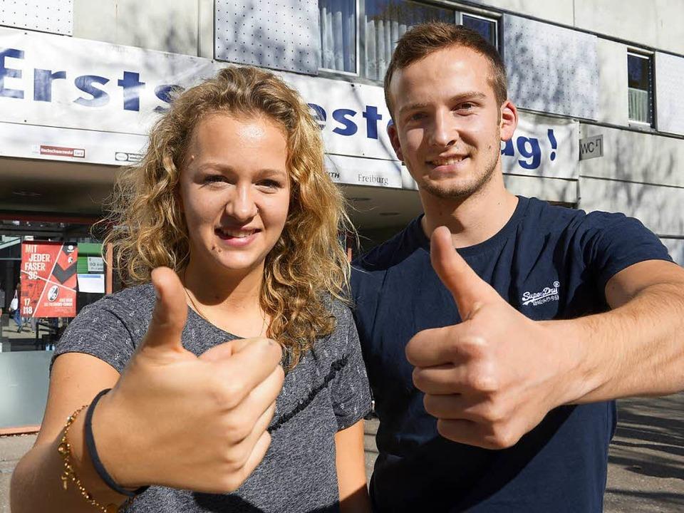 Nora Ermuth, 20, und Nikolai Sonner, 21  | Foto: Ingo Schneider
