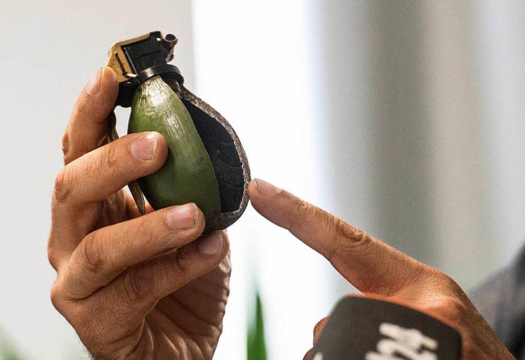 Eine Handgranate (Symbolbild)    Foto: dpa
