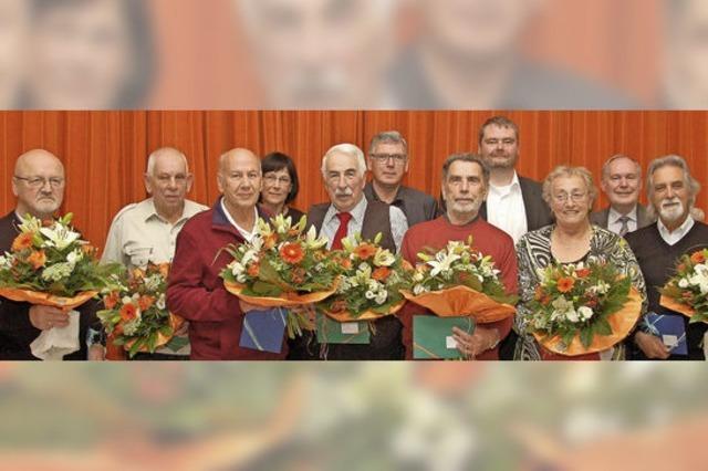 Langjährige Mitglieder der Baugenossenschaft