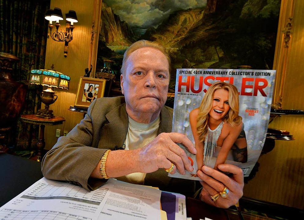 Larry Flynt bietet 10 Millionen Dollar...zu dessen Amtsenthebung führen können.    Foto: AFP