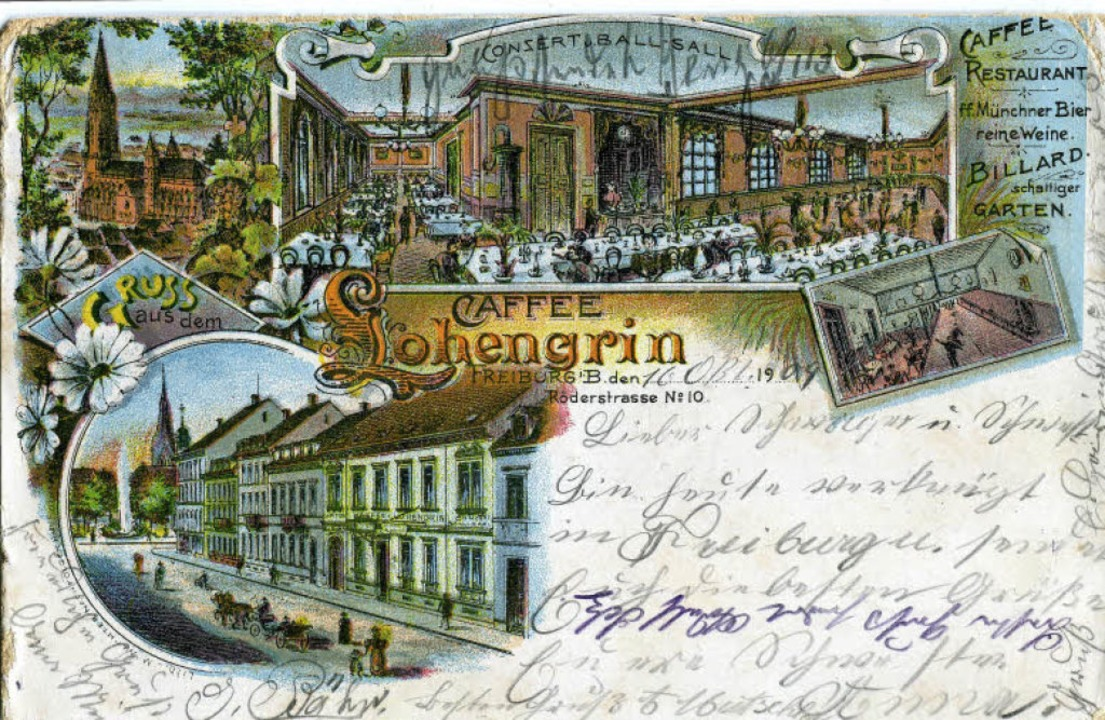 Einst ein Ort für rauschende Feste: das Café Lohengrin an der Röderstraße.   | Foto: Archiv Hans-Jürgen Oehler