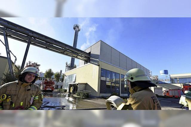 Rettungskräfte simulieren bei der Pharmafirma Pfizer den Notfall
