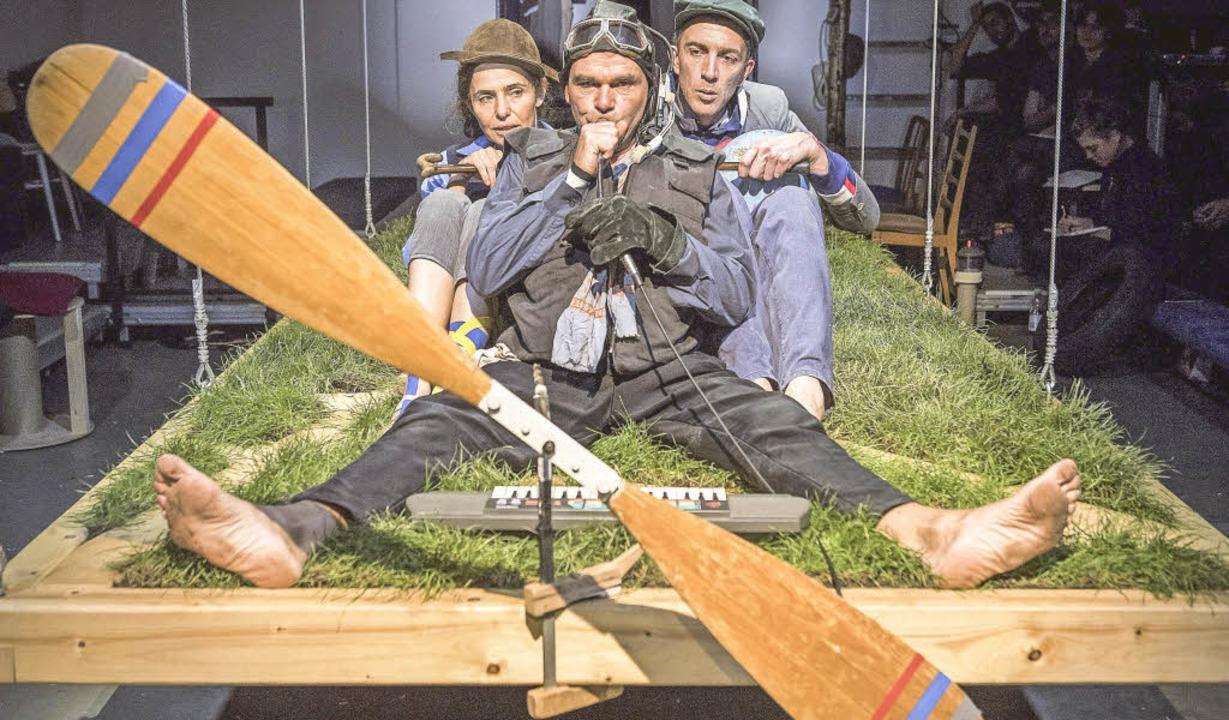 Luftig unterwegs: Daniela Mohr, Christoph Müller und Dominik Knapp  | Foto: Marc Doradzillo