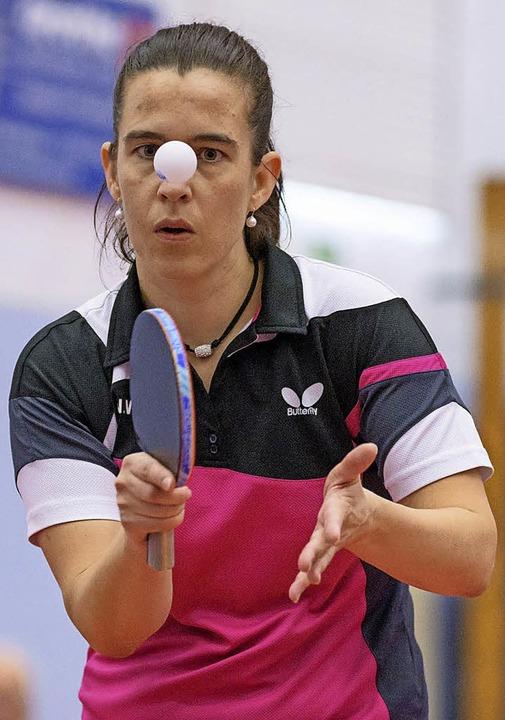 <BZ-FotoAnlauf>Tischtennis:</BZ-FotoAn...lick. So steuerte sie zwei Punkte bei.  | Foto: Gerd Gründl