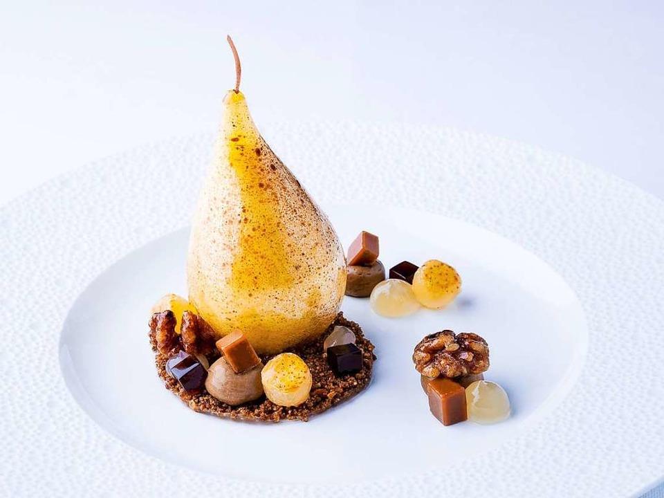 David Mahns neueste süße Kreation:  Birne,  Malz,  Karamell,  Jivraschokolade  | Foto: Europa-Park