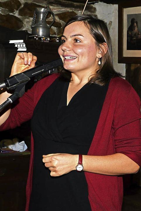 Sie schreibt über alles, was ihr in di...us Buggingen stammende Kathrin Ruesch.  | Foto: Hülter-Hassler