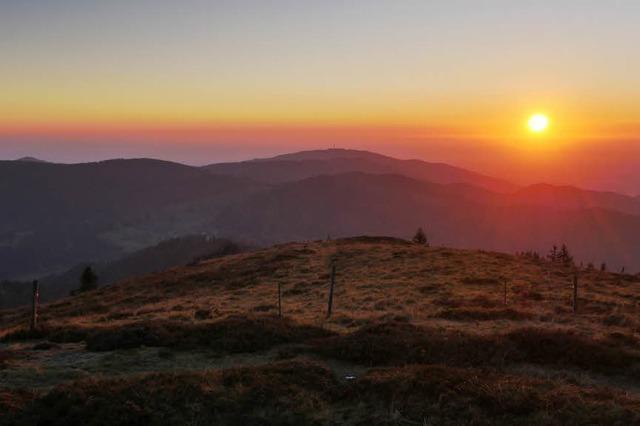 Sonnenuntergang auf dem Belchen