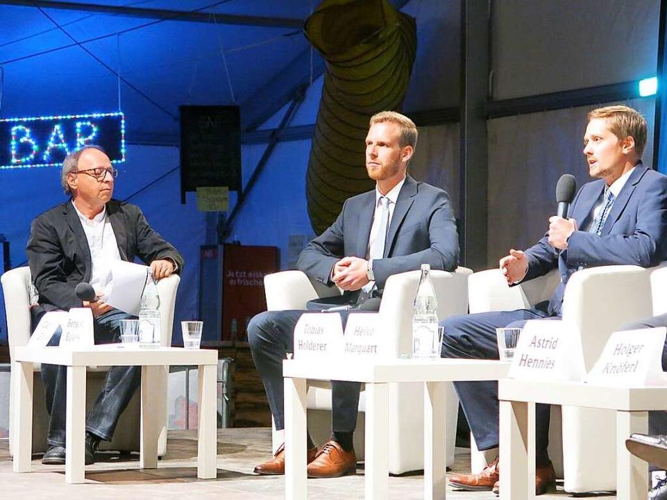 BZ-Redaktionsleiter von Breisach, Gero...ckerle und Tobias Holderer (von links)  | Foto: Claudia Müller