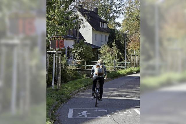 Ebneter Ortschaftsrat diskutiert mobilen Geschwindigkeitsmessung - für Radler