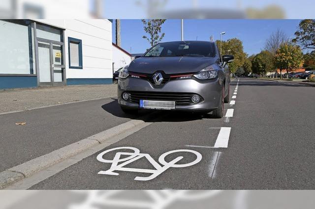 Mehr Platz für Radfahrer, weniger für Autos