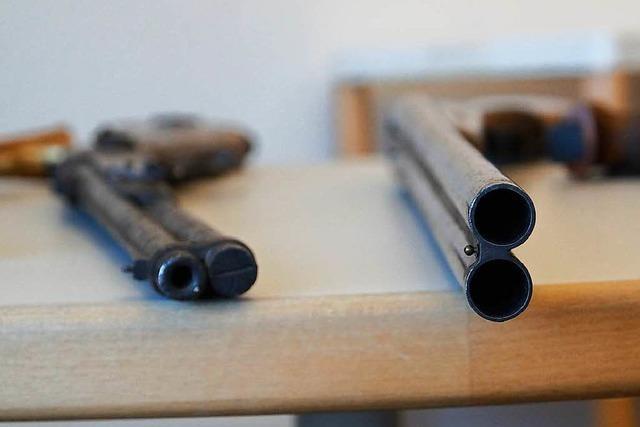 Im Landratsamt darf man illegale Waffen straffrei abgeben