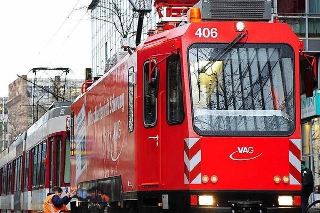 VAG-Schleifer sorgt auf Freiburger Gleisen wieder für den richtigen Schliff